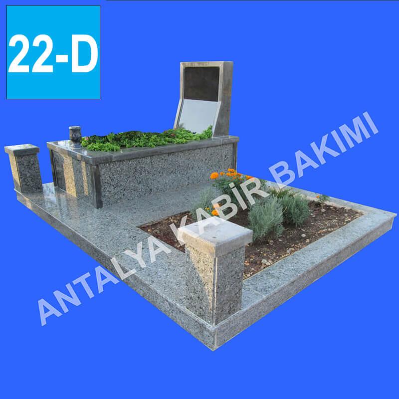 Blok Gri ve Siyah Renk Granit, İkli Mezar Modeli fiyatları