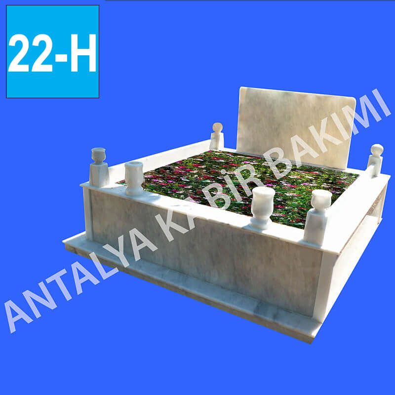 Çift Kişilik, Beyaz Mermer Mezar Modeli 22 - H