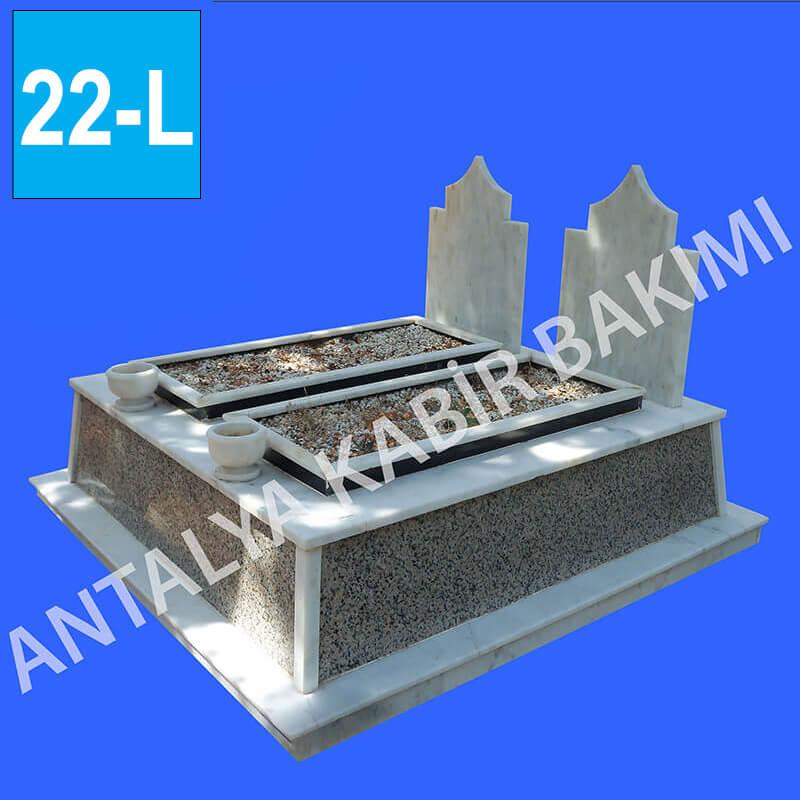 İkili Granit ve Mermer Mezar Modeli 22 - L
