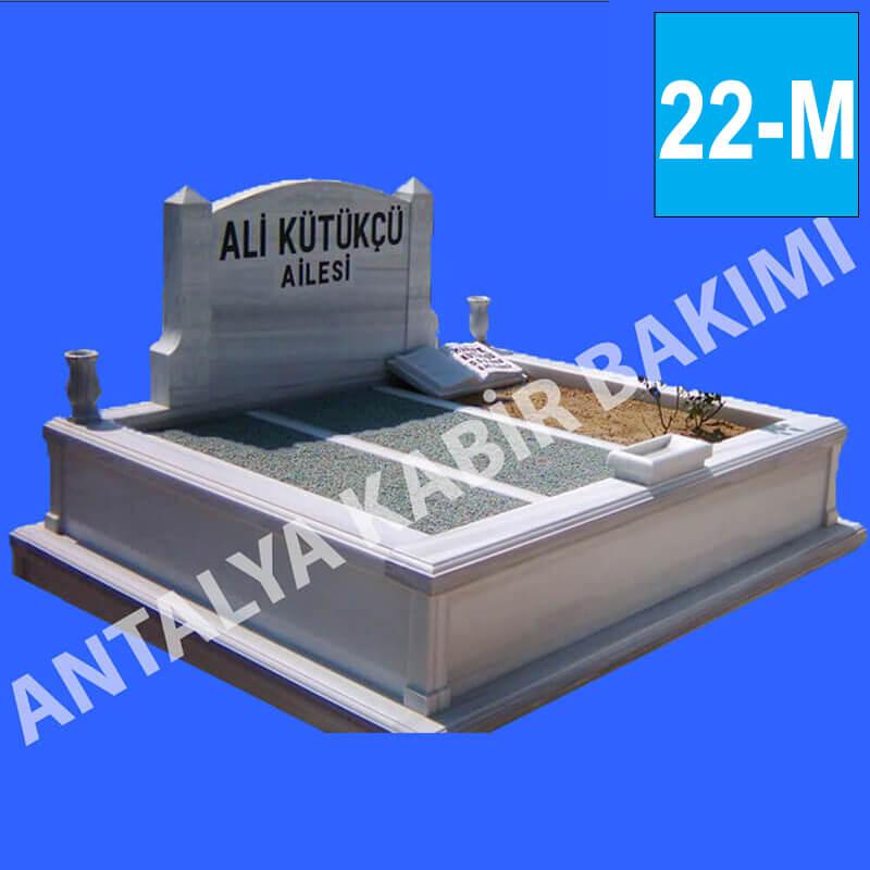 Kalın Taşlı, Kitaplı, Marmara Mermer Mezar Modeli 22 - M